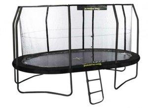 Ovale trampolines met net