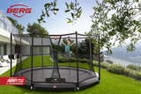 Berg Champion trampoline rand 380 cm grijs_