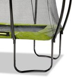 EXIT Silhouette rechthoekige trampoline met net - 214x305 cm limegroen_