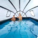 EXIT Frame Pool 5.4x2.5x1m (12v Zandfilter) Stone Grey + Overkapping_