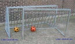 Stalen mini voetbaldoel 120x80 cm