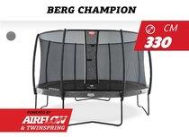 Berg Champion 330cm met Deluxe safetynet Grijs