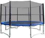 Superfun trampoline 305 cm met net - blauw