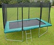 AirJump trampoline 305x213cm met net en trapje