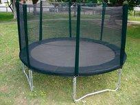 AirJump trampoline 366cm met safetynet - zwart