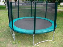 AirJump trampoline 427cm met safetynet - groen