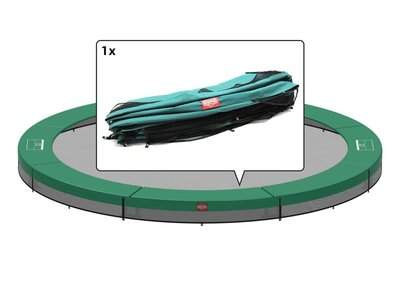 Berg Favorit inground trampoline rand 330 cm groen - 8 delen