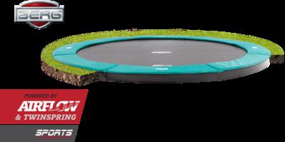 Berg Flatground Champion trampoline rand 430 cm groen