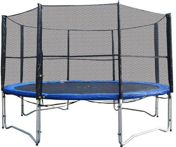 Superfun trampoline 366 cm met net - blauw