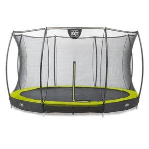 Silhouette inground trampoline met net