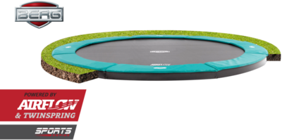 Berg Inground Champion trampoline rand 380 cm groen